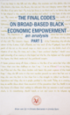 The Final Codes On Broad Based Black Economic Empowerment